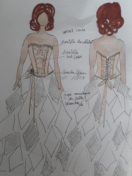 robe de mariée volume