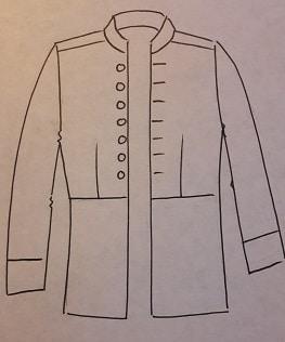 veste de costume de Hussard