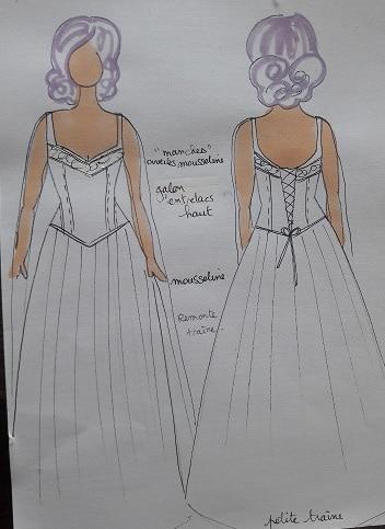 Robe de mariée galon celtique