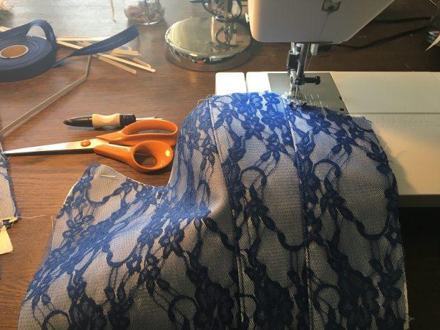robe de mariée bleue