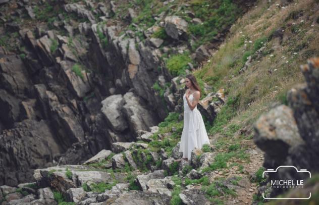 séance photo robe de mariée