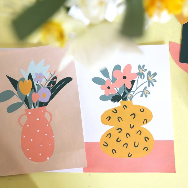 illustration peinture bouquet