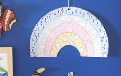 DIY coloriage arc en ciel