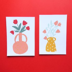 Cartes illustration bouquet