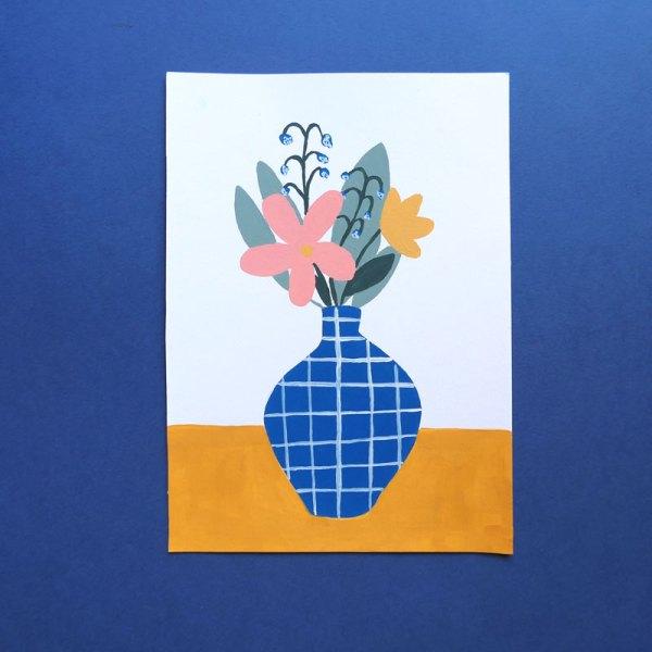 Illustration peinture bouquet jacinthe