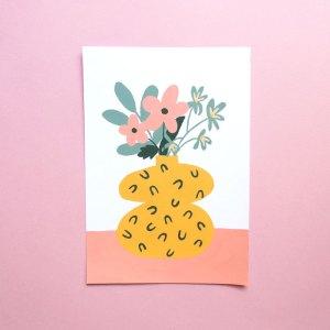 Illustration bouquet pensée
