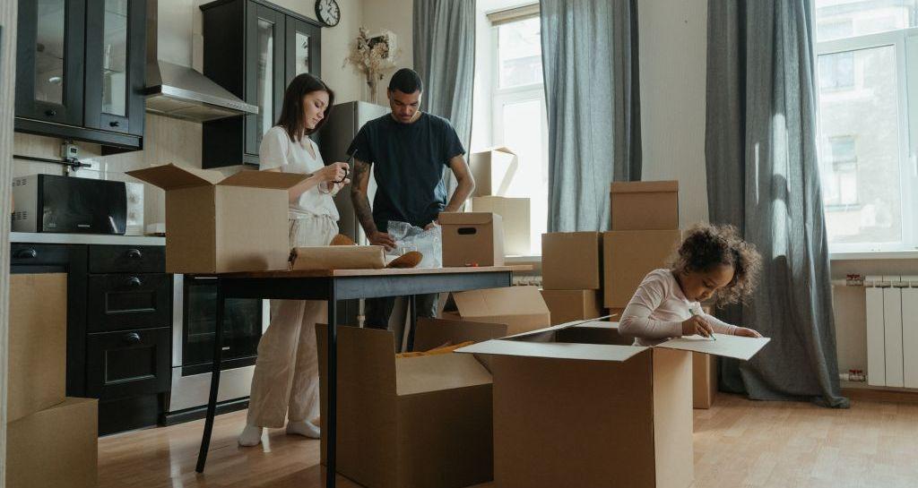 famille déménagement