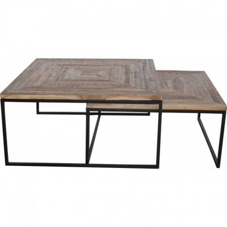 "SET DE 2 TABLES BASSES ""QUADRO"""