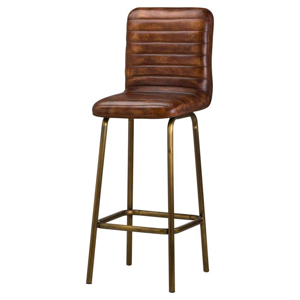 "Tabouret De Bar En Cuir ""Billy"""