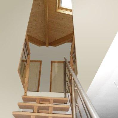 Escalier vers surélévation