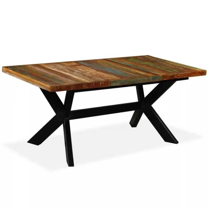 table industriellel180 bois massif et metal