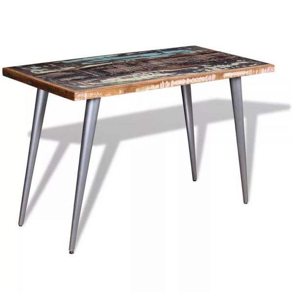 table 120 cm orland metal et bois recycle