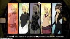 L'ensemble des costumes de Kat.