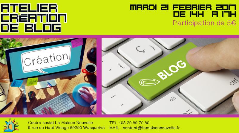 Informatique : Atelier Blog le mercredi 15 mars de 14h à 17h