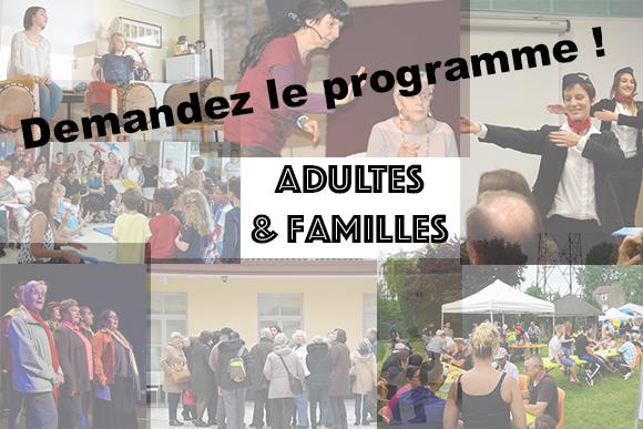 Programme des évènements Adultes/Familles/Parentalité
