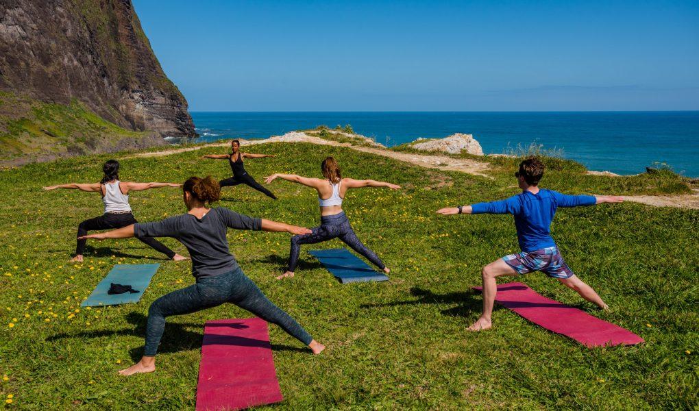 Yoga en montagne