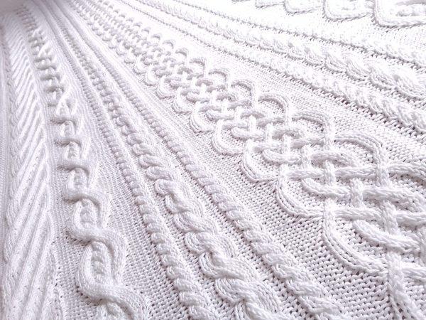 Etole irlandaise 100% coton mercerisé, tricotée main. Pièce unique, création originale La Malle au Coton