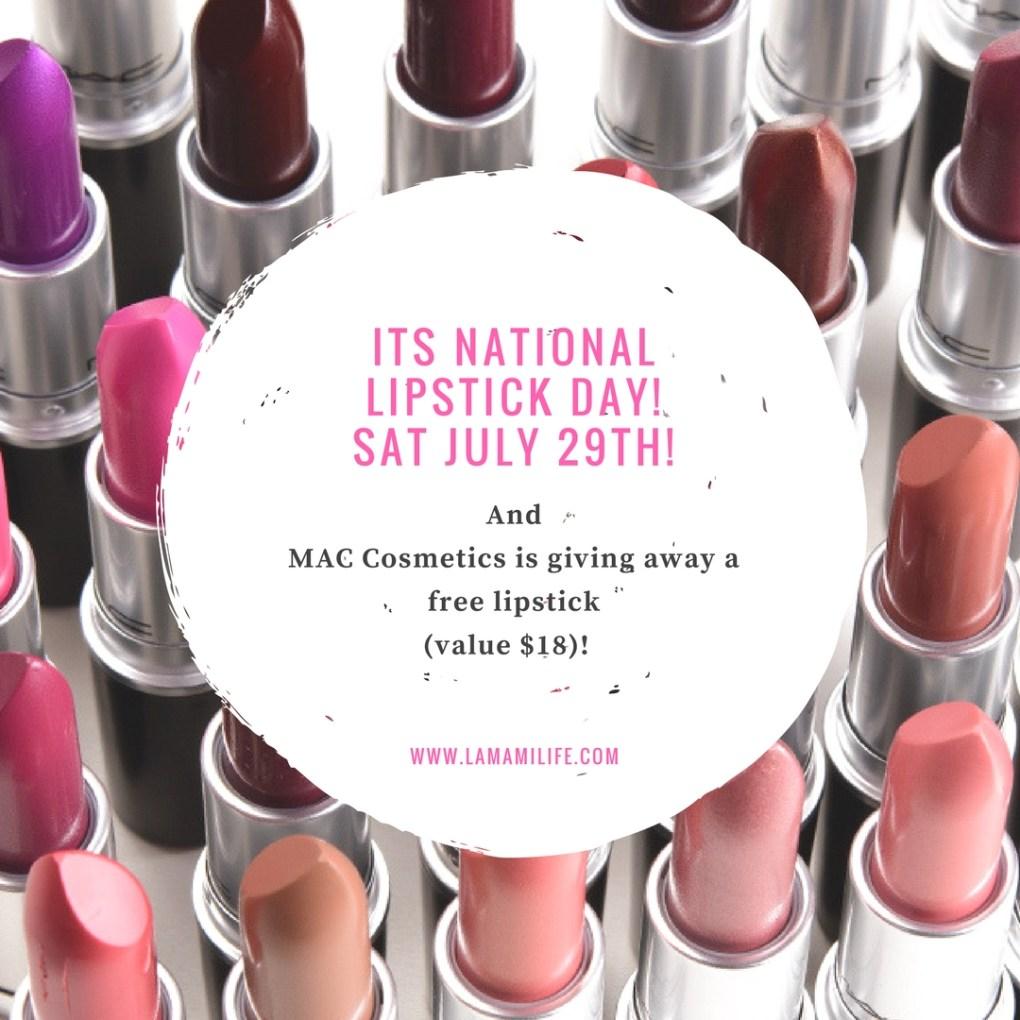 its national lipstick day!1