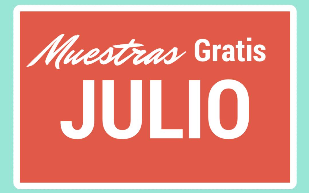 Muestras gratis para bebes y embarazadas de Julio