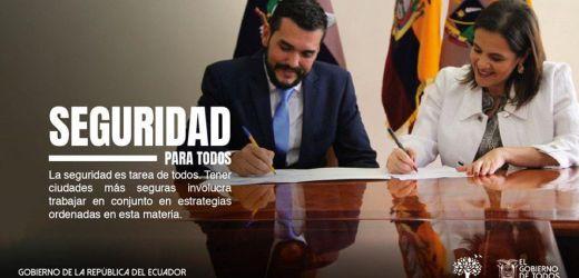 Reunión de trabajo con la Sra. Ministra de Gobierno, María Paula Romo