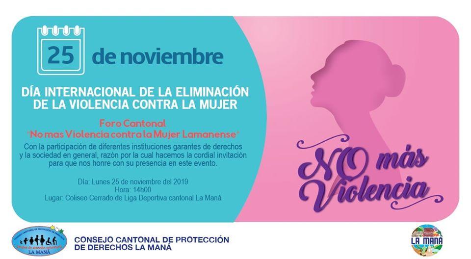 Día Internacional de la eliminación de la violencia contrala mujer