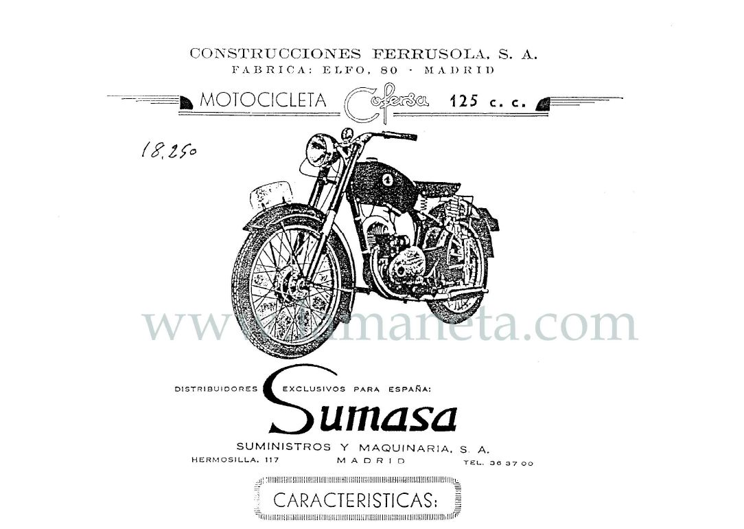 Cofersa 125 Cc Catalogo