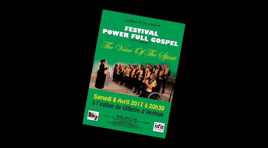Flyer concert du 08/04/2017 - Festival Power Full Gospel
