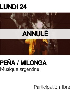 Visus site - pena milonga avril annule
