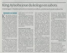 Le Monde - King Ayisoba - min