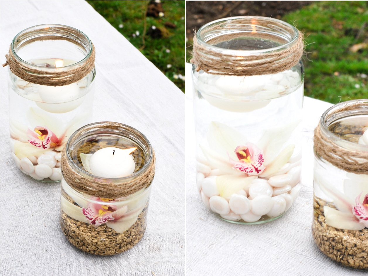 Idée décoration mariage photophores orchidée 2