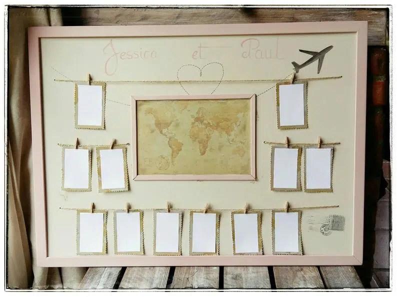 plan de table mariage voyages