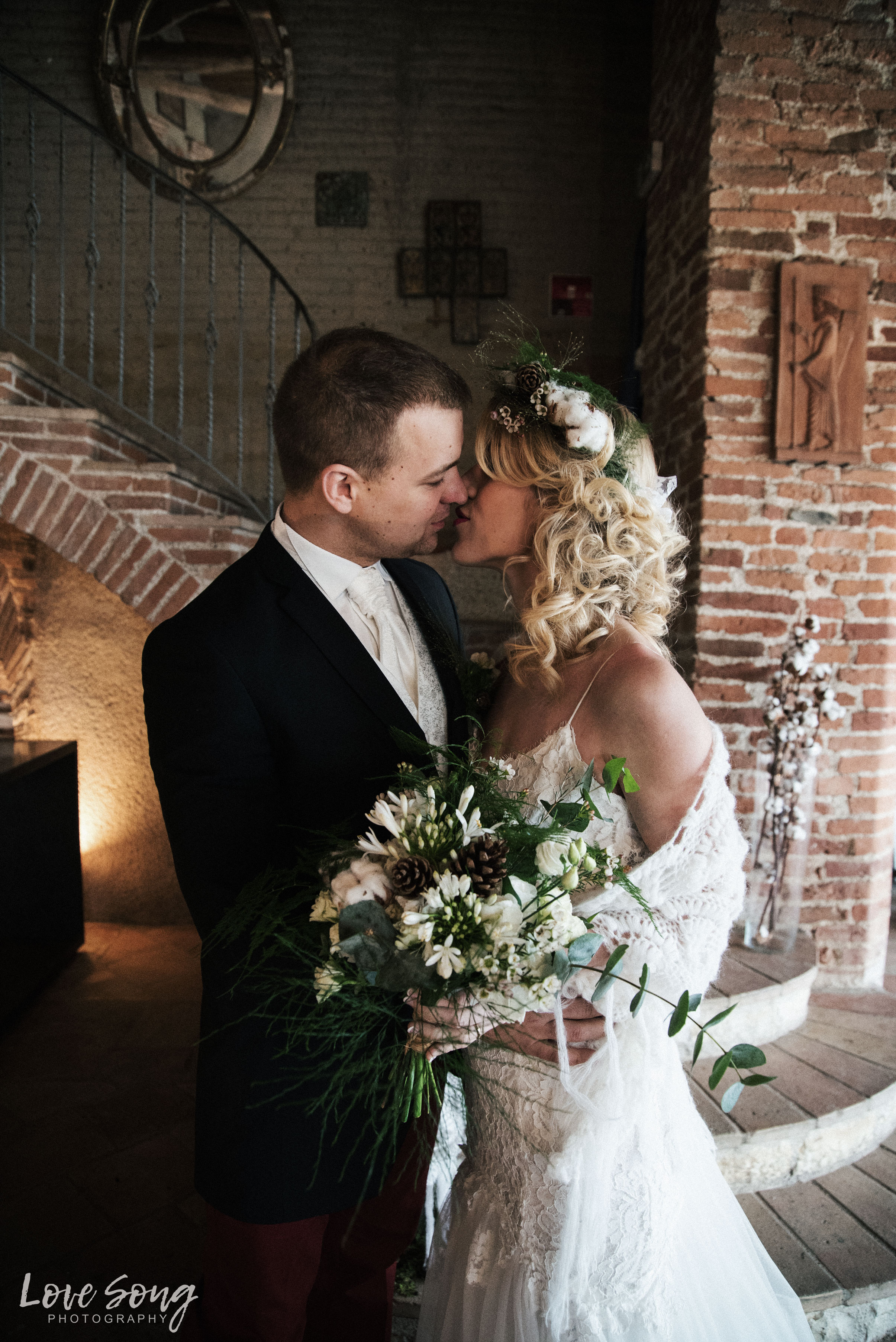 Mariage Hiver Scandinave contemporain
