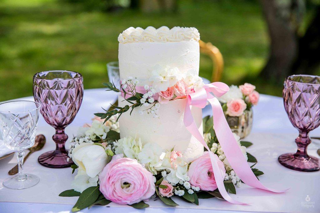 Wedding Cake mariage fleurs rose