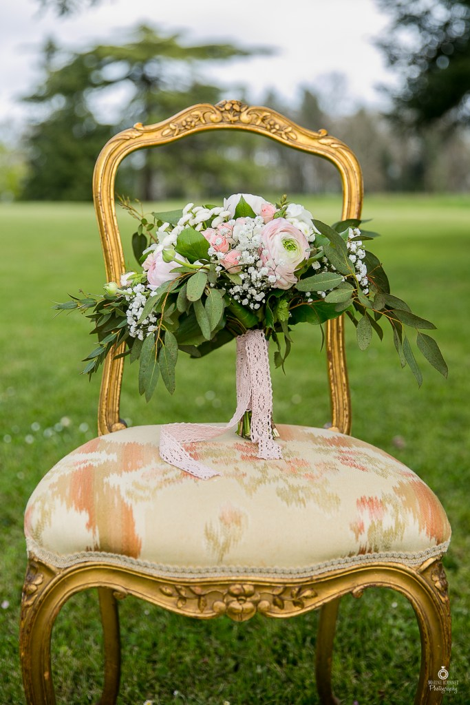 Décoration mariage chic bouquet de fleurs