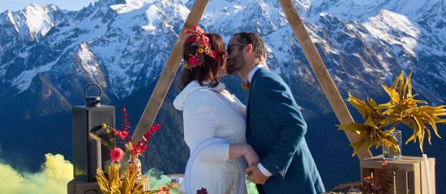 Shooting d'inspiration – Mariage à la montagne