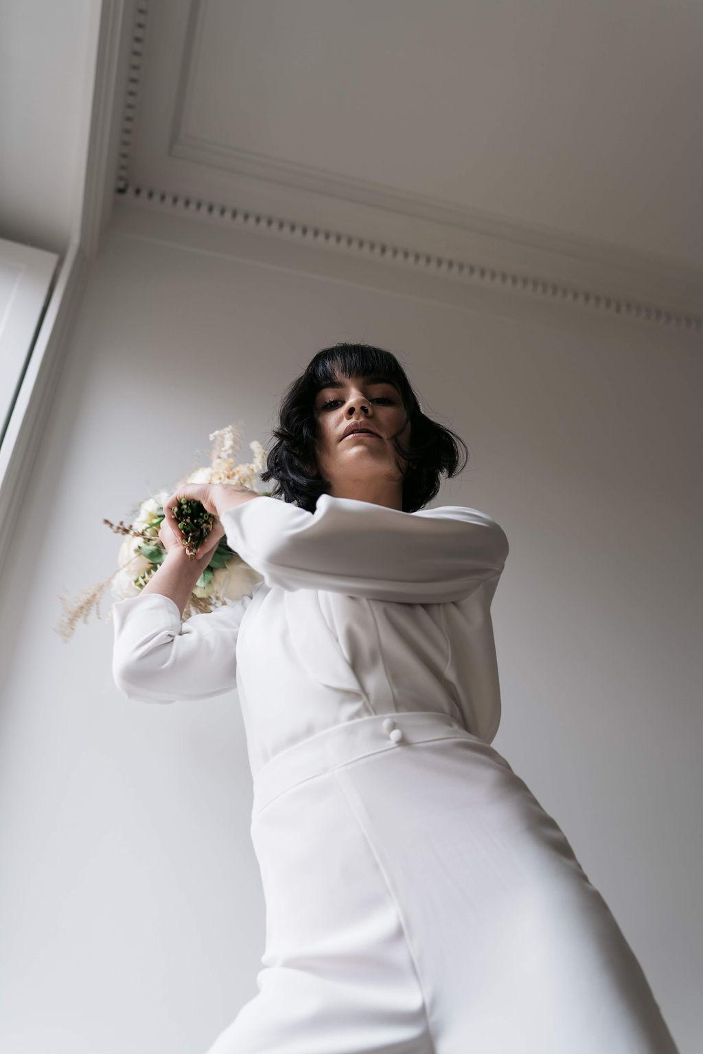 Tenue de mariage - Combinaison mariage Florence M