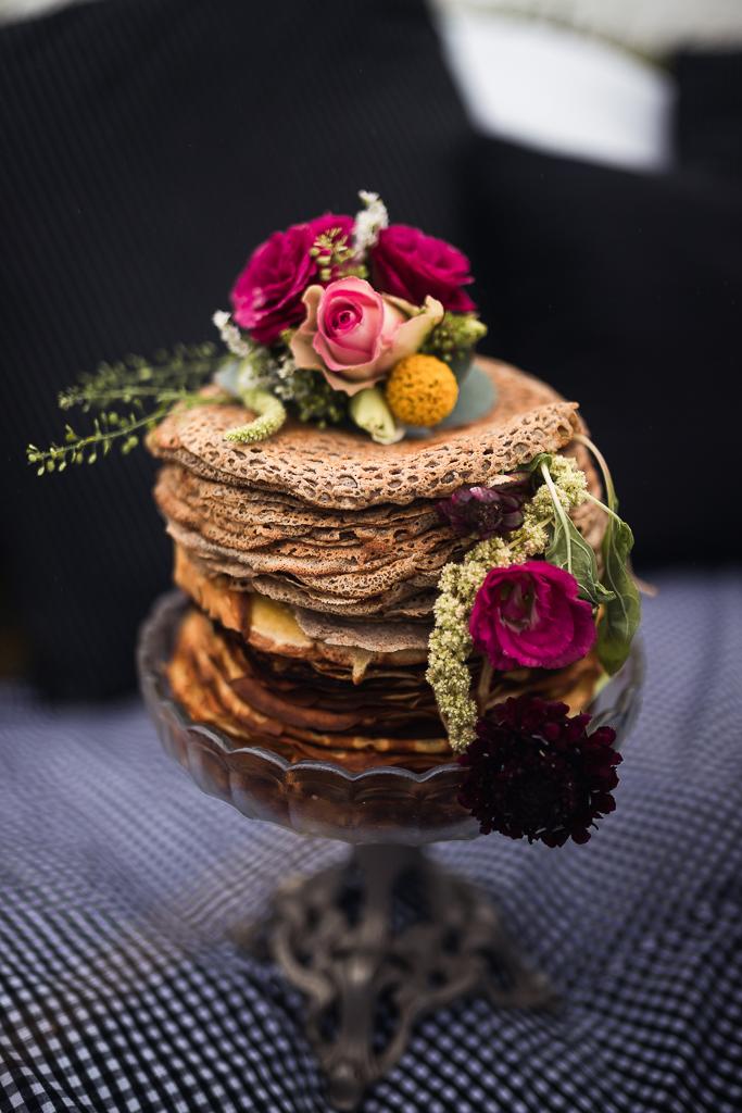 gâteau de crêpes de mariage
