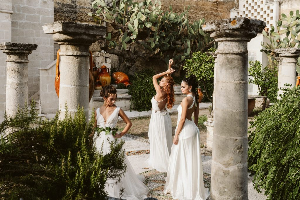 Shooting d'inspiration de robes de mariée de la rome antique
