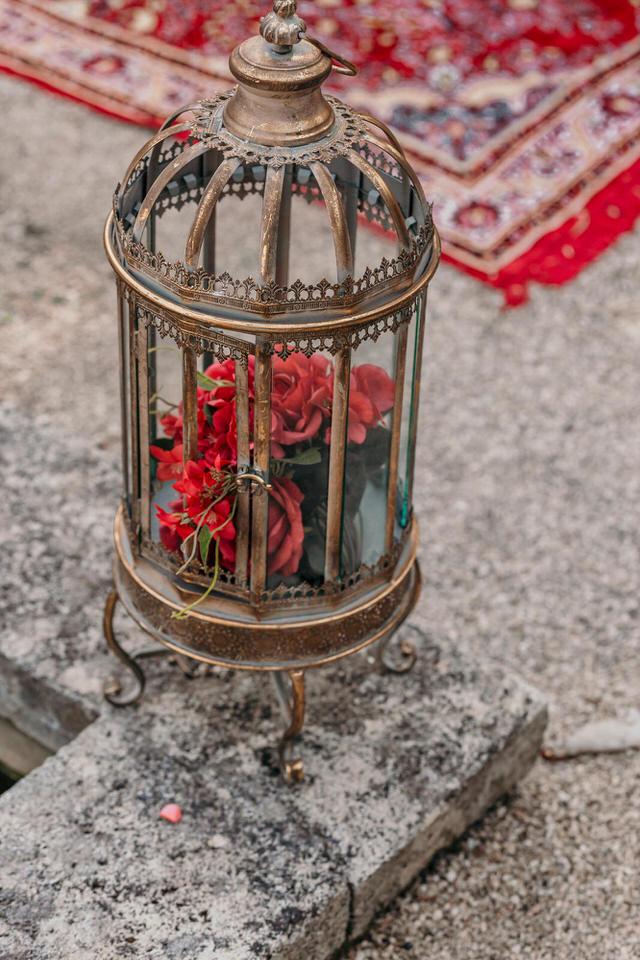 décoration de mariage rouge et doré