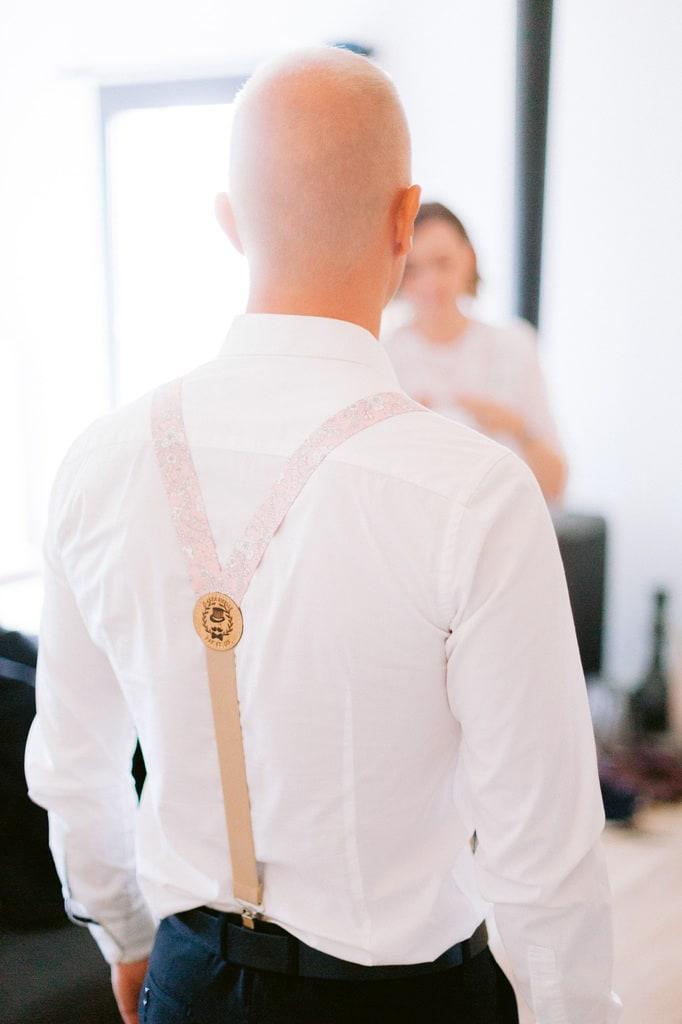 bretelle mariage rose