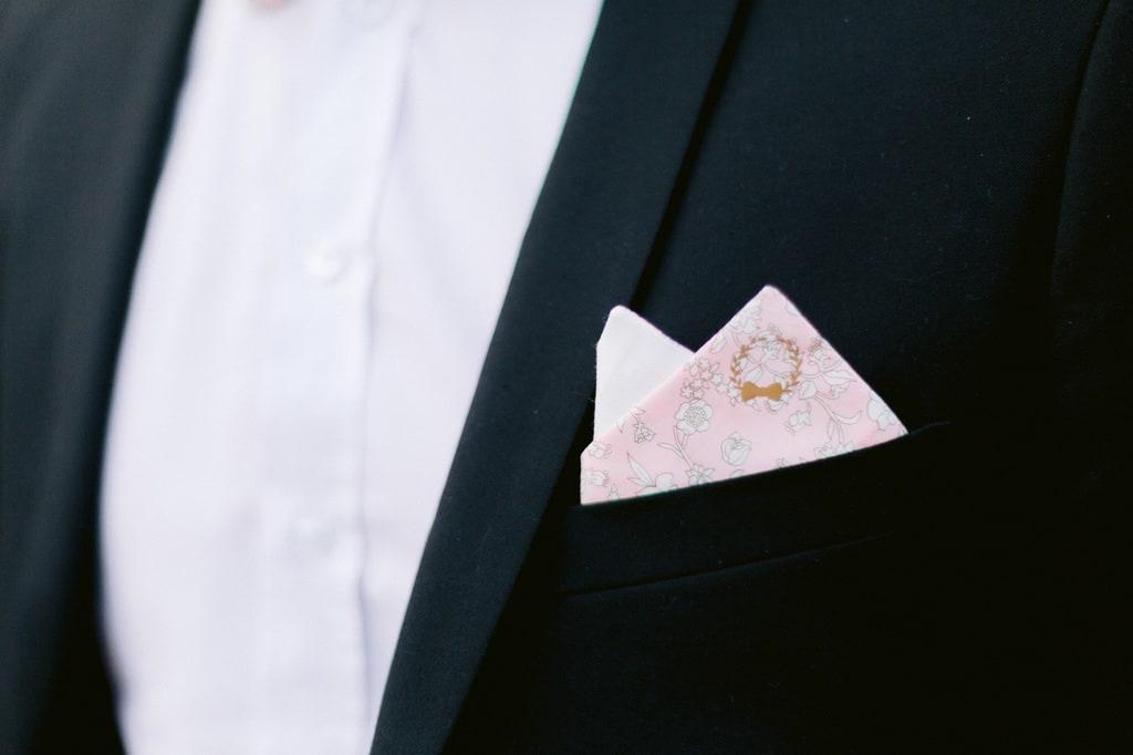 Pochette mariage homme