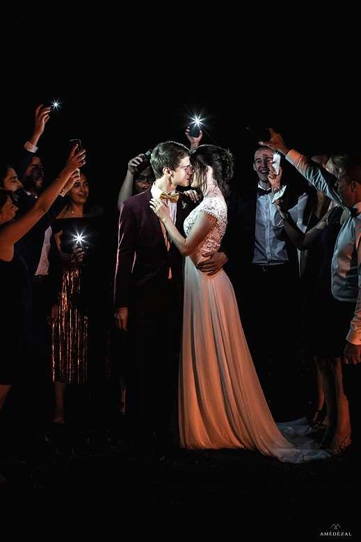 mariage de nuit sous les étoiles