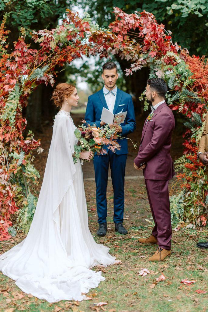 arche de mariage automne