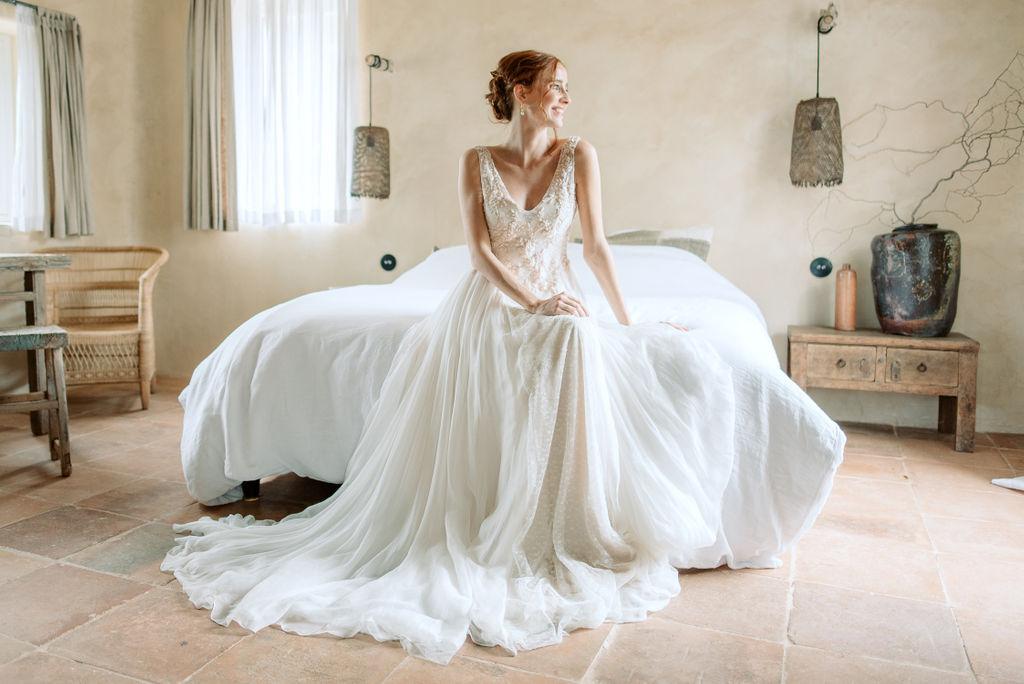 Robe de mariée bretelles