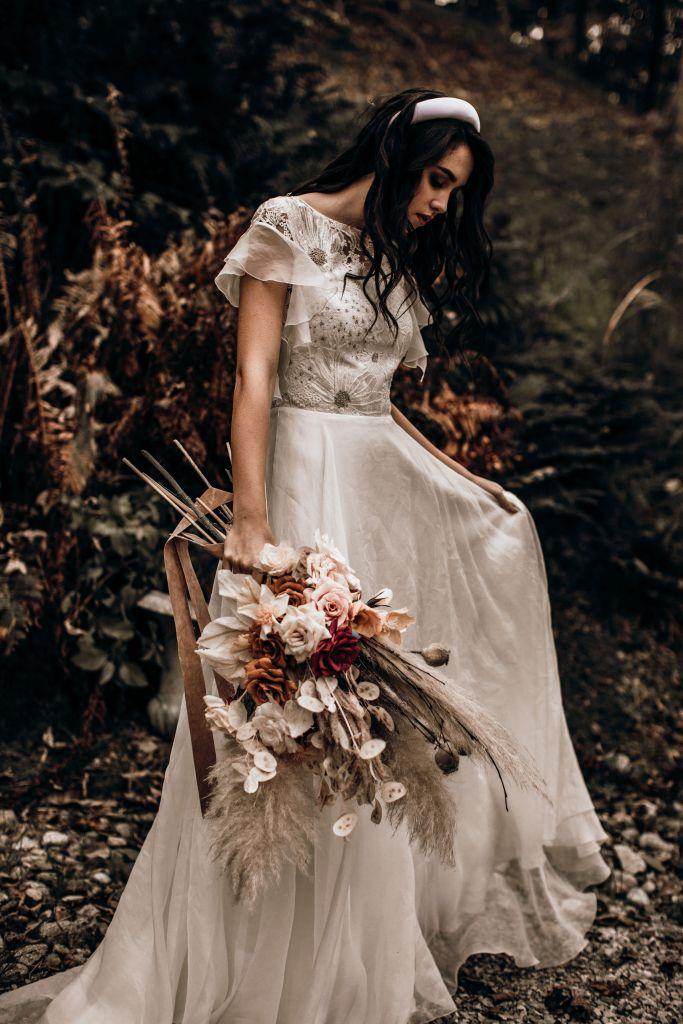 Un mariage de rêve en automne robe de mariée