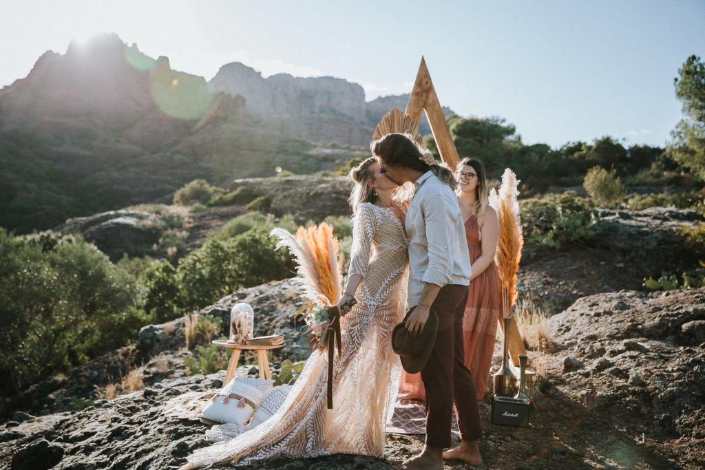 Mariage alternatif Coachella cérémonie laïque