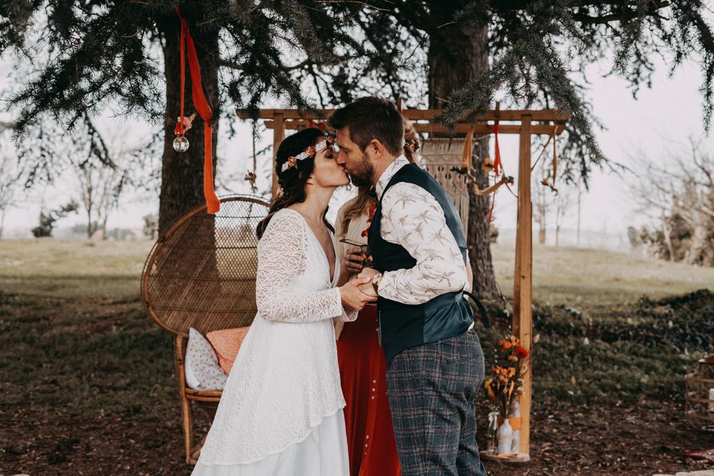 Cérémonie laïque mariage Woodstock