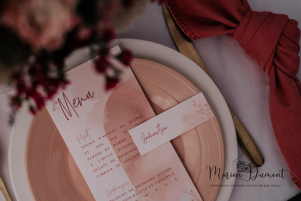papeterie mariage rose