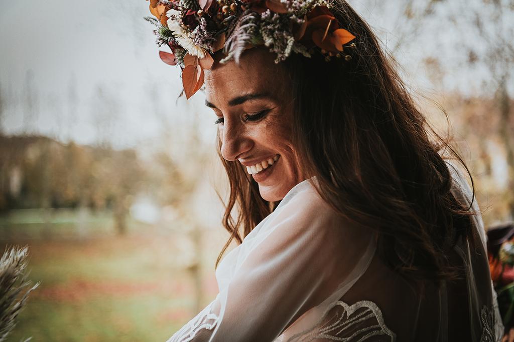 Accessoires de tête de fleurs séchées mariage