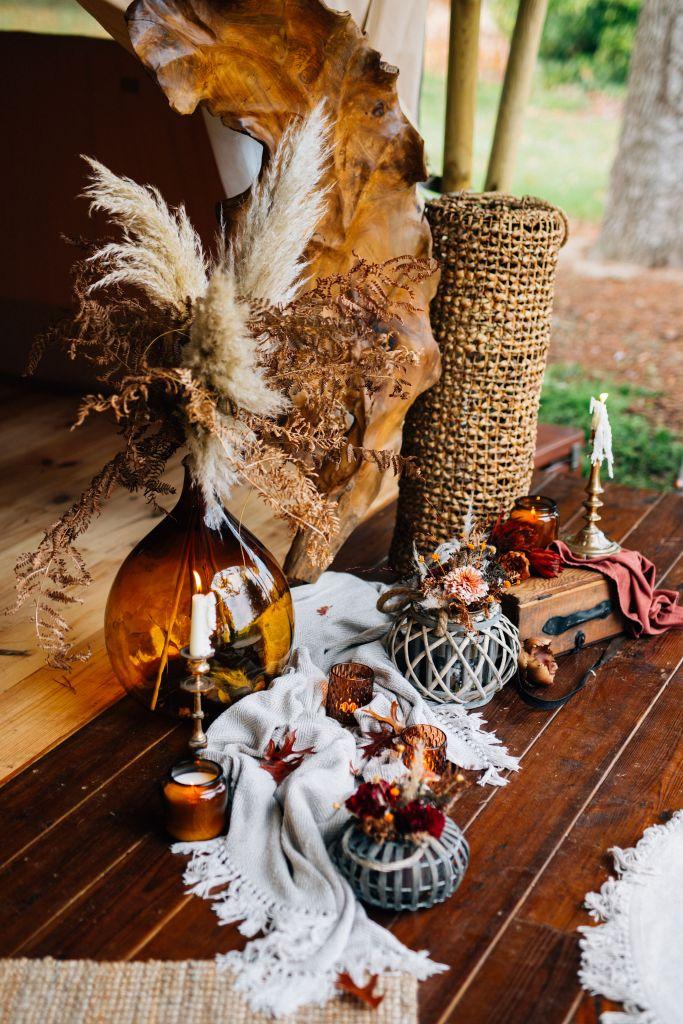 décoration de mariage gipsy folk bohème